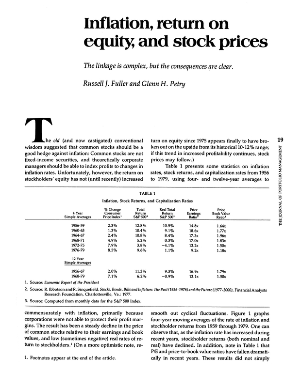 Inflation return on equity and stock prices the journal of log in using your username and password fandeluxe Choice Image
