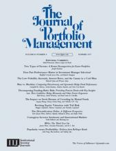 The Journal of Portfolio Management: 43 (4)