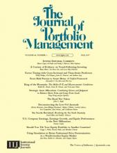 The Journal of Portfolio Management: 44 (1)