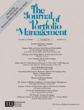 The Journal of Portfolio Management: 44 (3)