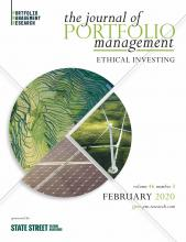 The Journal of Portfolio Management: 46 (3)