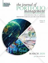 The Journal of Portfolio Management: 46 (4)