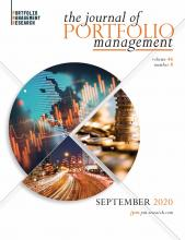The Journal of Portfolio Management: 46 (8)